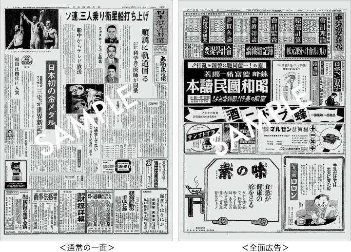 一部の紙面について(日本経済新聞)|お誕生日新聞
