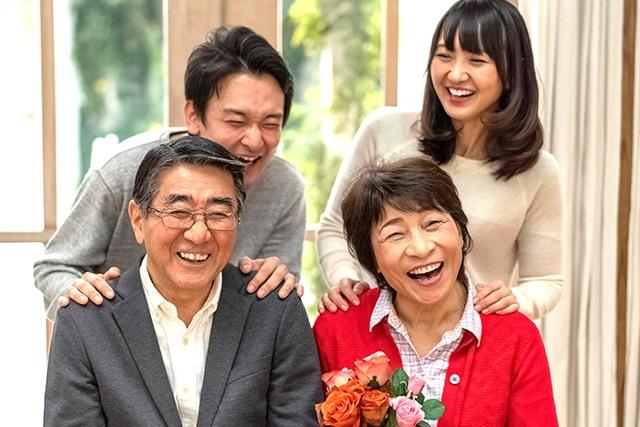 家族のお祝い写真