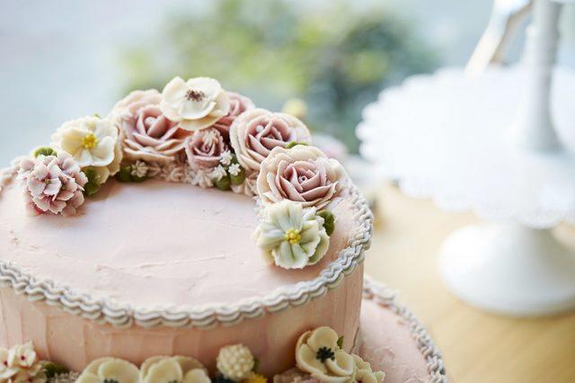 花のチョコケーキ